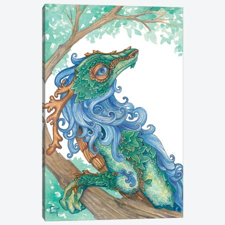 Blue Maned Dragon Canvas Print #FAI28} by Might Fly Art & Illustration Art Print