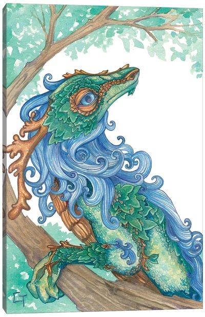 Blue Maned Dragon Canvas Art Print
