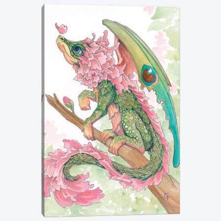 Cherry Blossom Dragon Canvas Print #FAI29} by Might Fly Art & Illustration Canvas Art Print