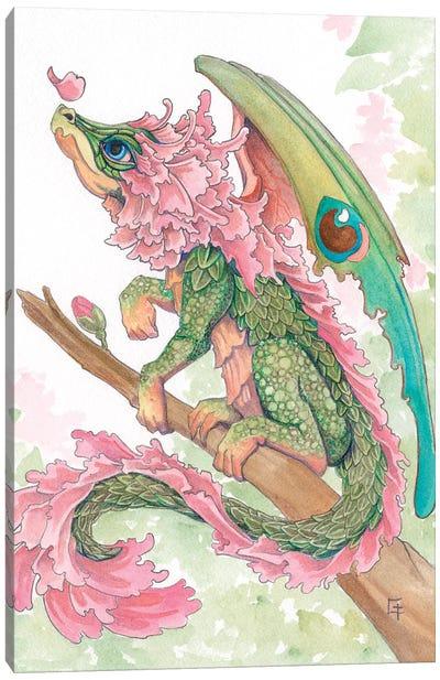Cherry Blossom Dragon Canvas Art Print