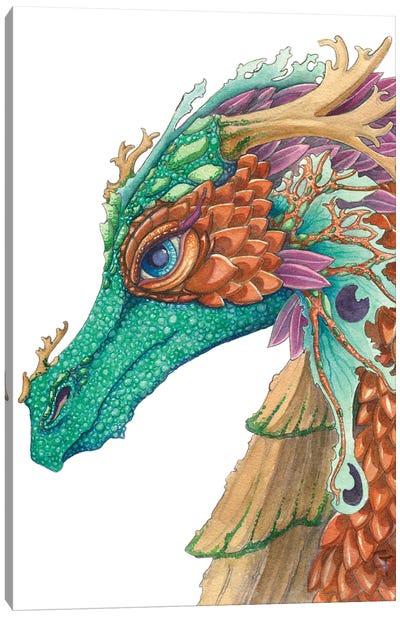 Copper Scaled Dragon Canvas Art Print