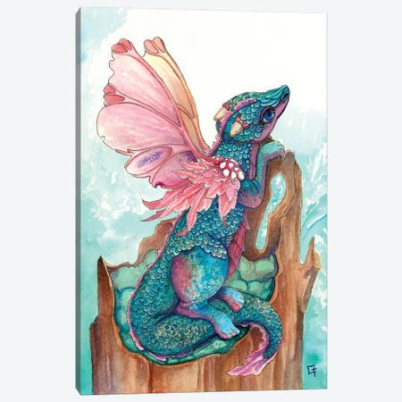 Fairy Dragon Canvas Print #FAI32} by Might Fly Art & Illustration Canvas Wall Art