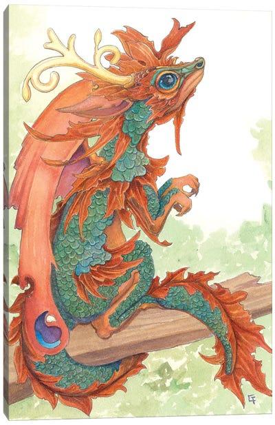 Fallen Leaf Dragon Canvas Art Print