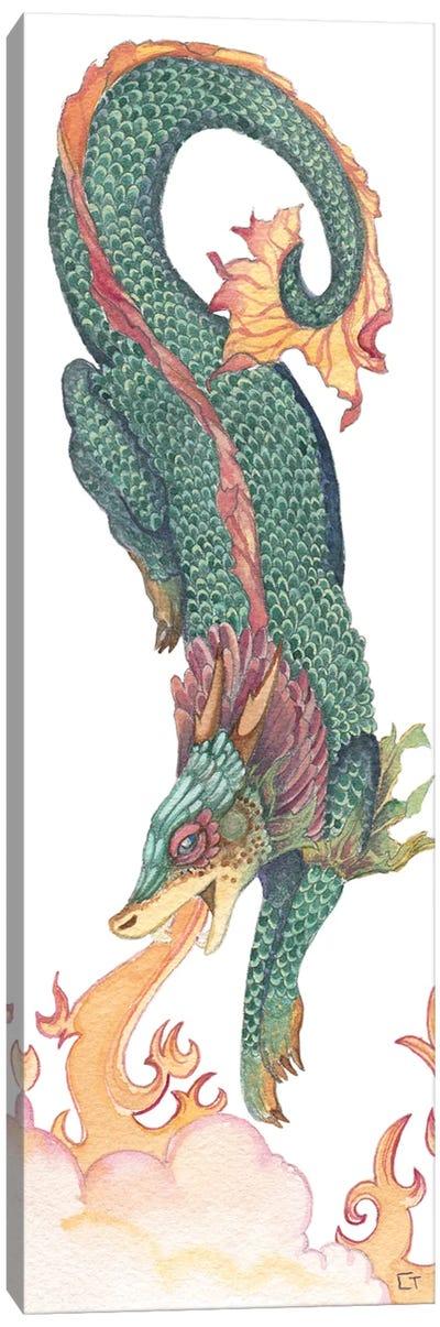 Green Crested Dragon Canvas Art Print