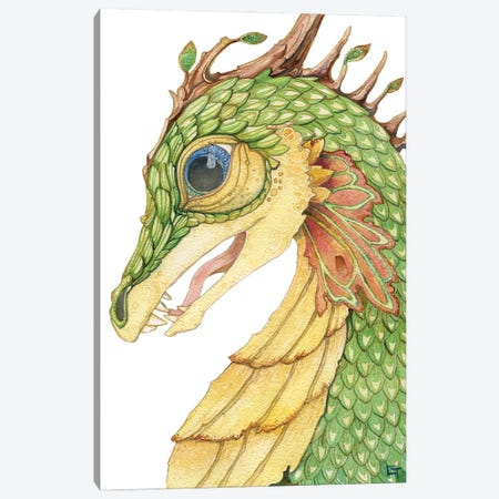 Leaf Scaled Dragon Canvas Print #FAI35} by Might Fly Art & Illustration Art Print