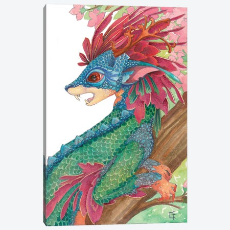 Lesser Crested Dragon Canvas Print #FAI36} by Might Fly Art & Illustration Canvas Print