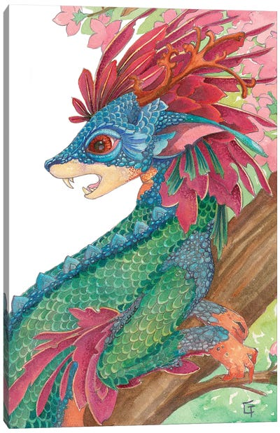 Lesser Crested Dragon Canvas Art Print