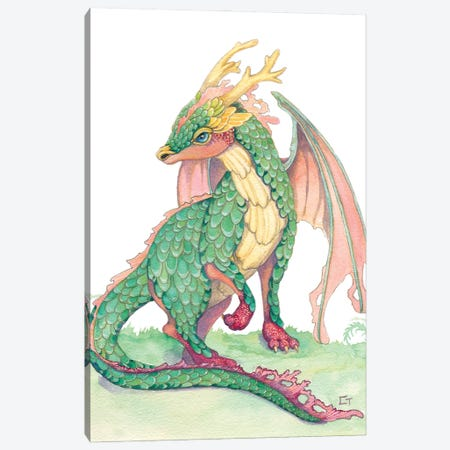 Ruby Footed Dragon Canvas Print #FAI38} by Might Fly Art & Illustration Canvas Art