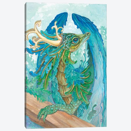 Ruffled Dragon Canvas Print #FAI39} by Might Fly Art & Illustration Canvas Art