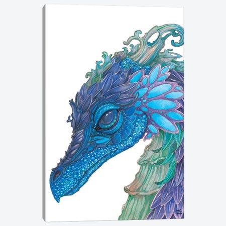 Wild Iris Dragon Canvas Print #FAI41} by Might Fly Art & Illustration Art Print