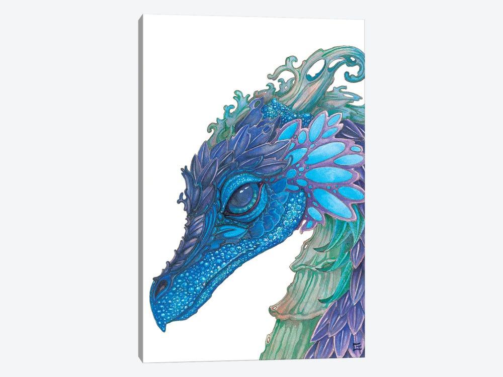 Wild Iris Dragon by Might Fly Art & Illustration 1-piece Canvas Print