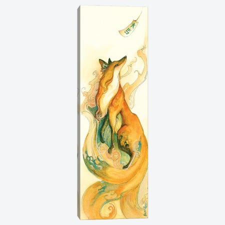 Kitsune Canvas Print #FAI43} by Might Fly Art & Illustration Canvas Print