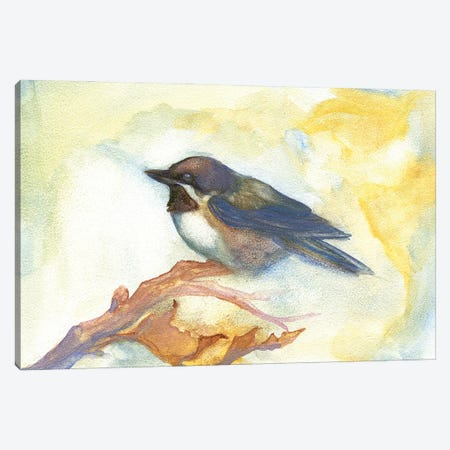 Chickadee In Fall Canvas Print #FAI47} by Might Fly Art & Illustration Canvas Art