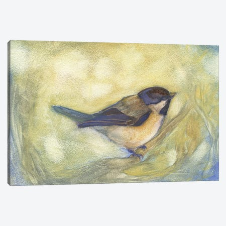 Chickadee in Dappled Sunlight Canvas Print #FAI48} by Might Fly Art & Illustration Canvas Art Print