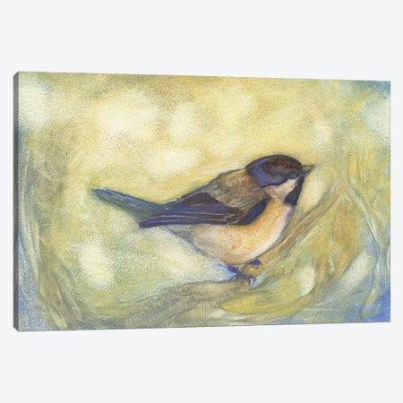 Chickadee in Dappled Sunlight Canvas Print #FAI48} by Might Fly Art & Illustration Canvas Art Print