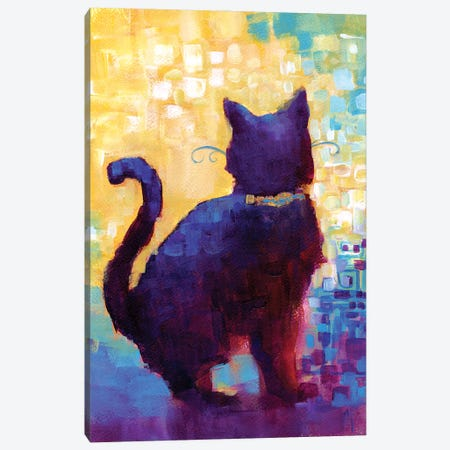 There Goes Trouble Canvas Print #FAI4} by Might Fly Art & Illustration Canvas Artwork