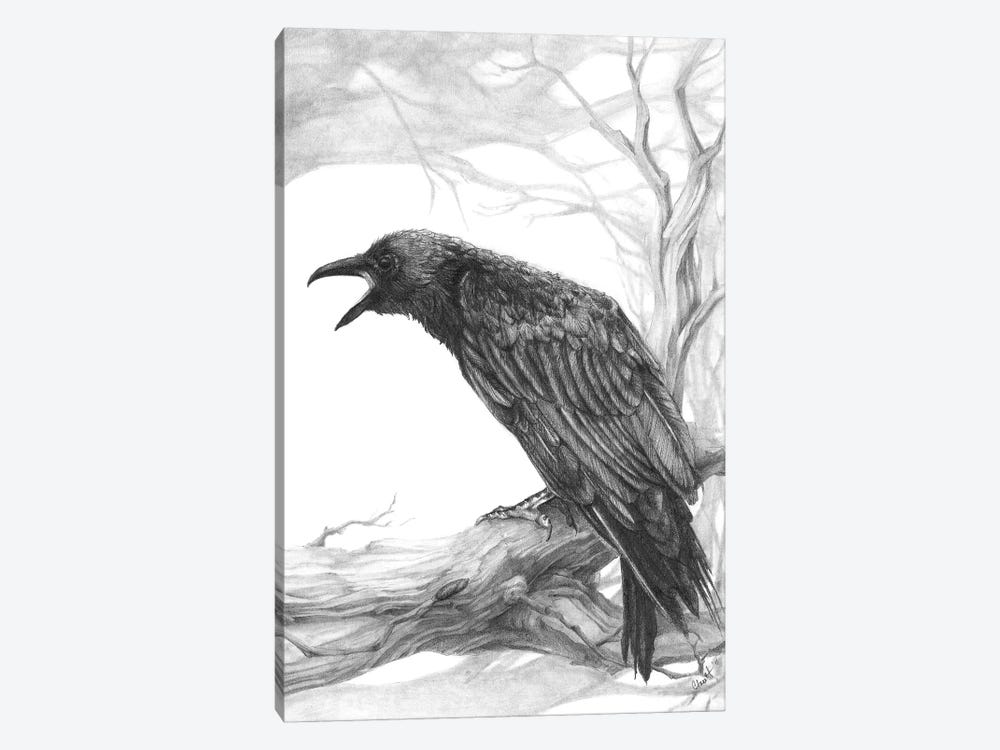 The Visitor by Might Fly Art & Illustration 1-piece Canvas Artwork