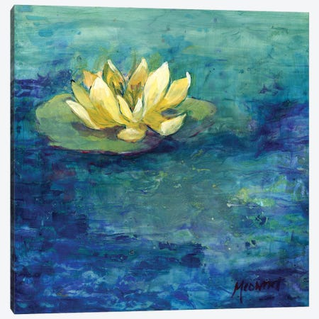 Yellow Water Lilly Canvas Print #FAI5} by Might Fly Art & Illustration Canvas Artwork