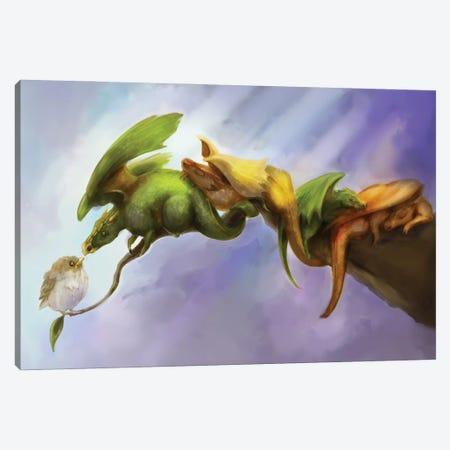 Birds of a Feather Canvas Print #FAI60} by Might Fly Art & Illustration Canvas Art Print