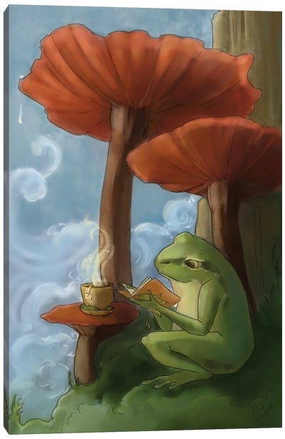 Oregon Tree Frog Canvas Art Print