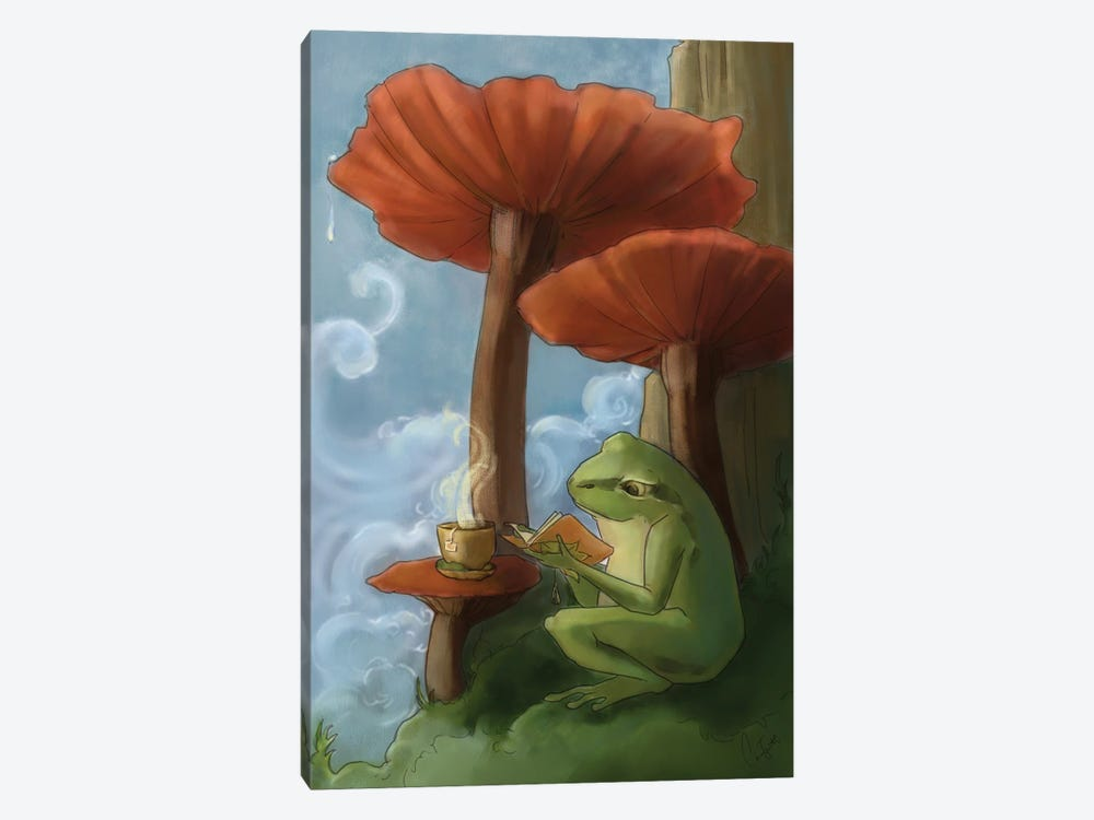 Oregon Tree Frog by Might Fly Art & Illustration 1-piece Canvas Artwork