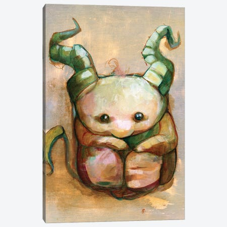 Under the Bed Beastie Canvas Print #FAI68} by Might Fly Art & Illustration Canvas Art Print