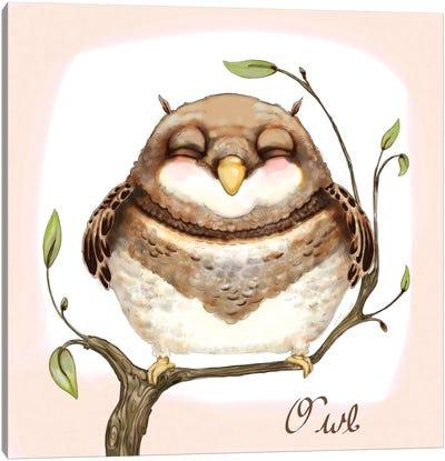 The Happiest Owl Canvas Art Print