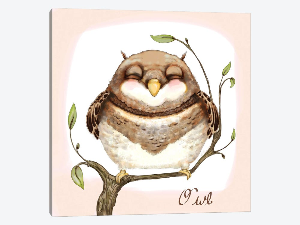 The Happiest Owl by Might Fly Art & Illustration 1-piece Art Print