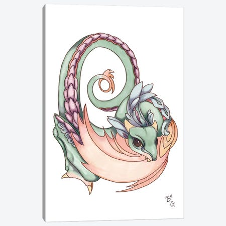 Monster Letter B Canvas Print #FAI73} by Might Fly Art & Illustration Canvas Wall Art