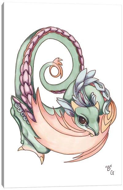 Monster Letter B Canvas Art Print