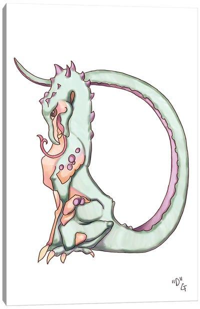 Monster Letter D Canvas Art Print