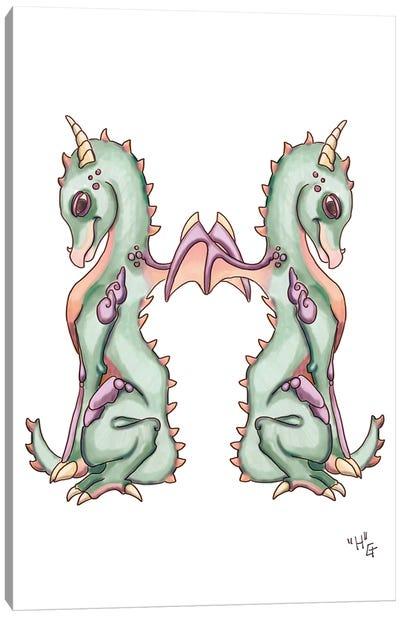 Monster Letter H Canvas Art Print