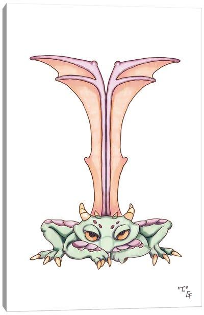 Monster Letter I Canvas Art Print