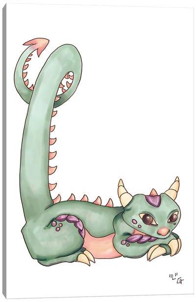 Monster Letter L Canvas Art Print