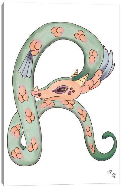 Monster Letter R Canvas Art Print