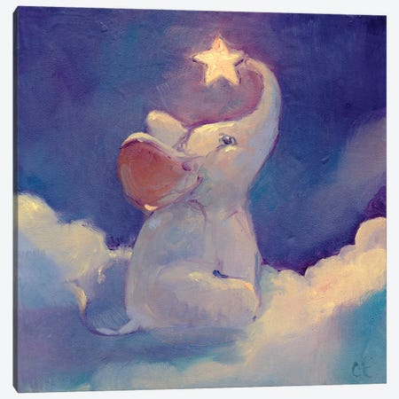 Little Elephant Canvas Print #FAI8} by Might Fly Art & Illustration Canvas Print