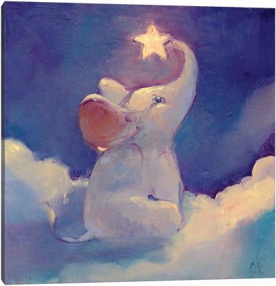 Little Elephant Canvas Art Print