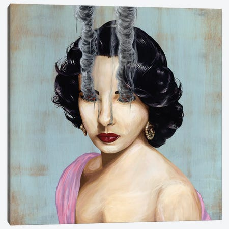 Elizabeth Taylor Canvas Print #FAM11} by Famous When Dead Canvas Art