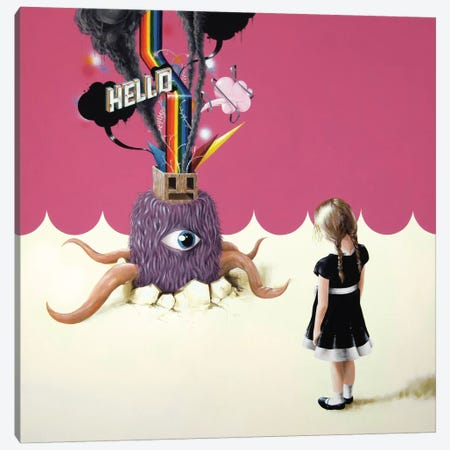 Hello Ruby 3-Piece Canvas #FAM18} by Famous When Dead Canvas Artwork