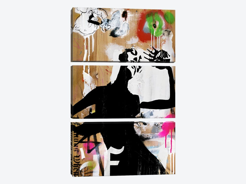 Hot New Decay by Famous When Dead 3-piece Canvas Print