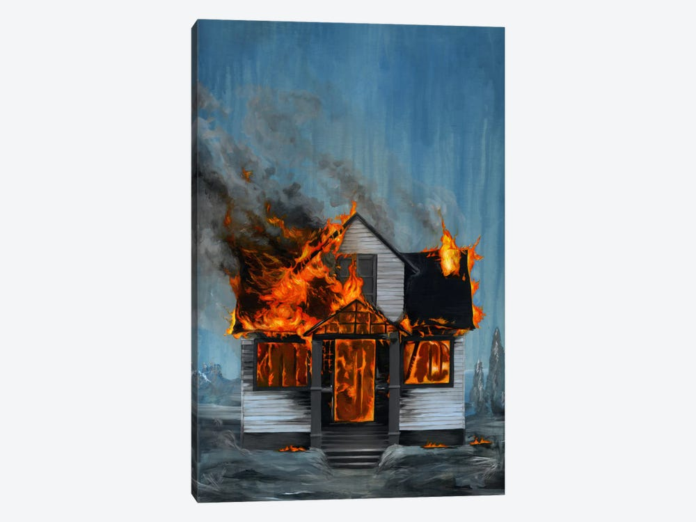House On Fire 1-piece Art Print