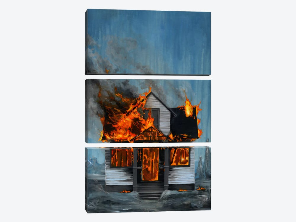 House On Fire 3-piece Art Print