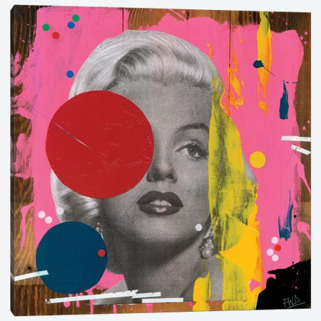 Marilyn Canvas Print #FAM24} by Famous When Dead Canvas Wall Art
