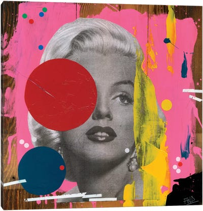 Marilyn by Famous When Dead Canvas Art Print