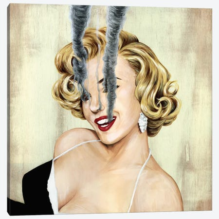 Marilyn Monroe Canvas Print #FAM25} by Famous When Dead Canvas Artwork