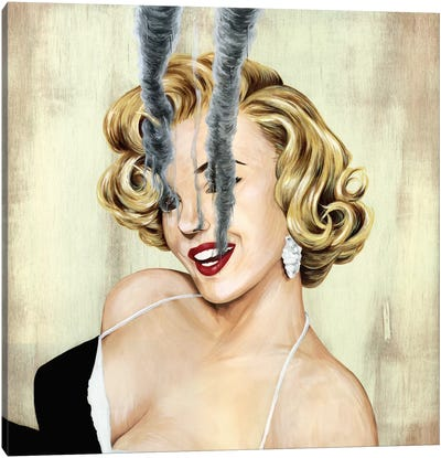 Marilyn Monroe by Famous When Dead Canvas Art Print