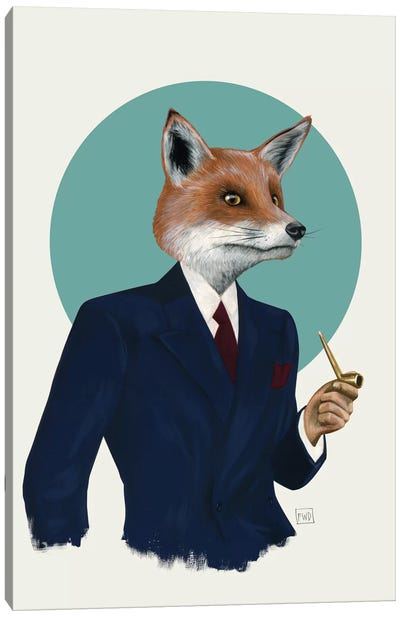Mr. Fox by Famous When Dead Canvas Art Print
