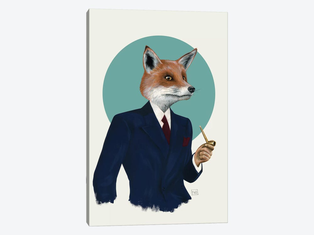 Mr. Fox by Famous When Dead 1-piece Canvas Art Print