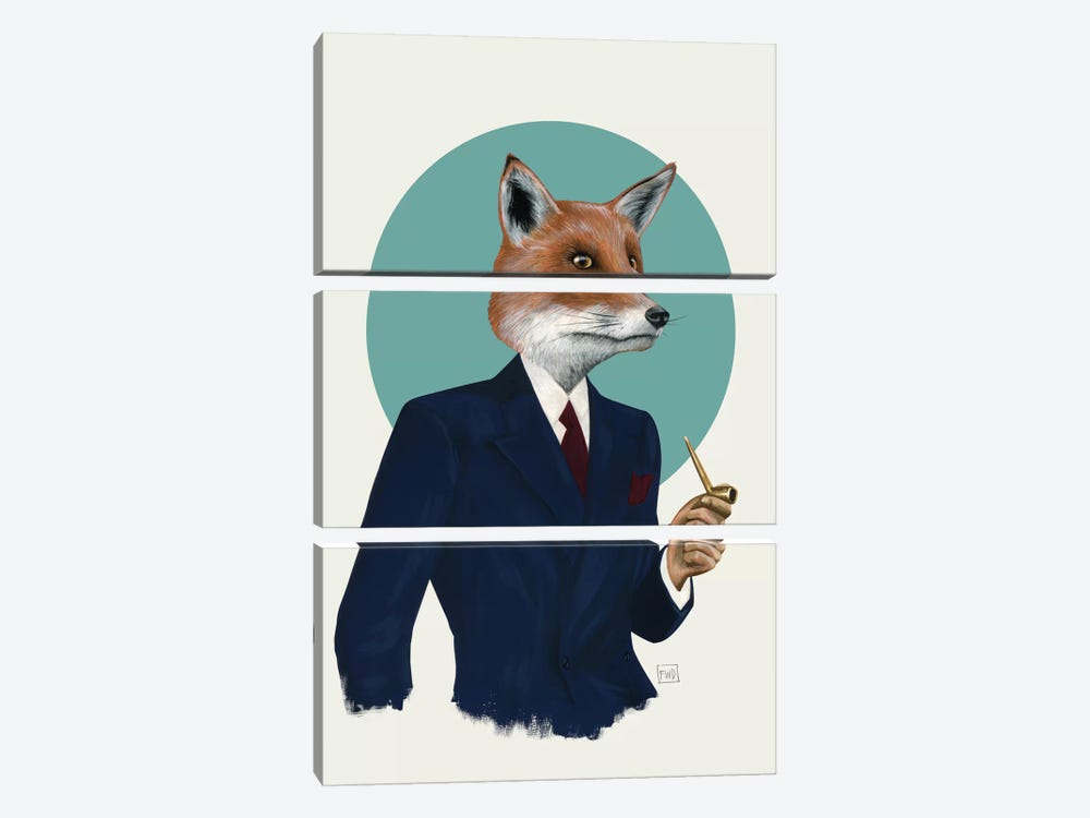 Mr. Fox by Famous When Dead 3-piece Canvas Print