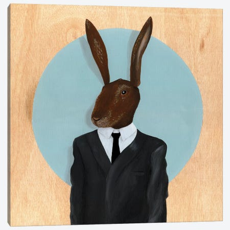 Rabbit Canvas Print #FAM27} by Famous When Dead Canvas Art